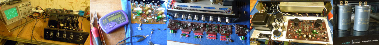 Restaurations optimisations ampli audio vintage