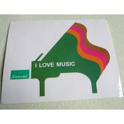 Sticker vintage Sansui Piano