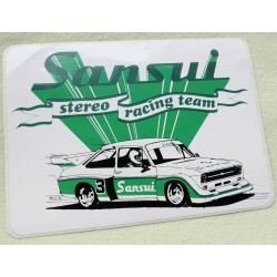 Sticker vintage Sansui stereo racing team