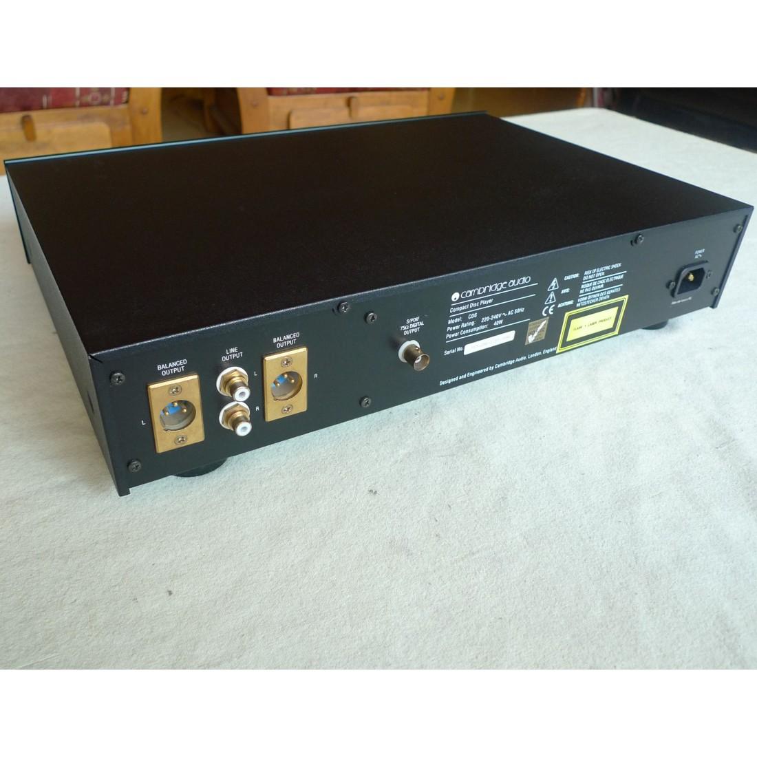 lecteur cd hifi audiophile cambridge audio cd 6 bitstream. Black Bedroom Furniture Sets. Home Design Ideas